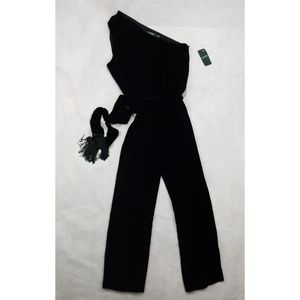 NWT Lauren Ralph Lauren Size 16 Black  Jumpsuit